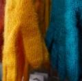 Gants (Taille 7) mohair et soie fil double