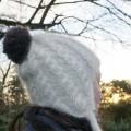 Bonnet péruvien mohair tricoté main