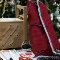 Pochette de rangement en mohair pour matériel tricot