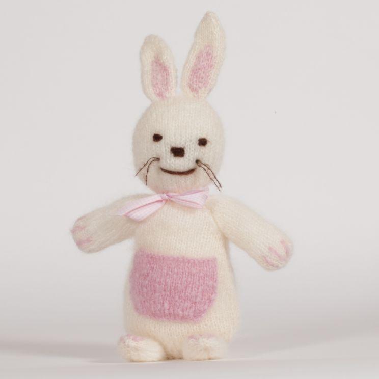 lapin tricoté en mohair