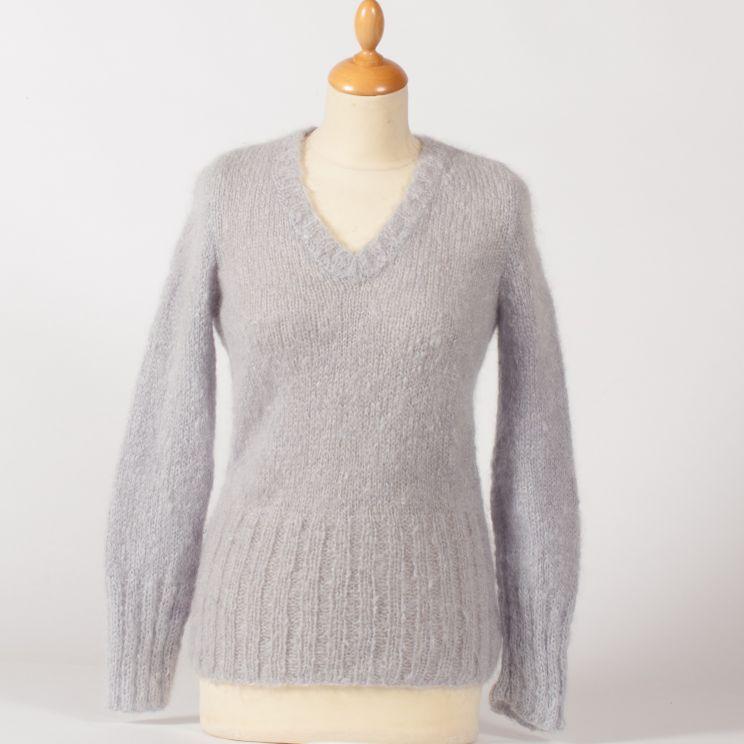 Pull Filaire en pur mohair, tricoté main