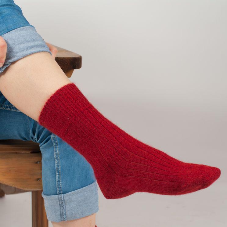 Chaussettes chaudes laine mohair unies Triskel