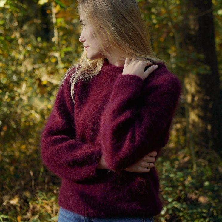 Pull Toulouse tricot main en mohair et soie