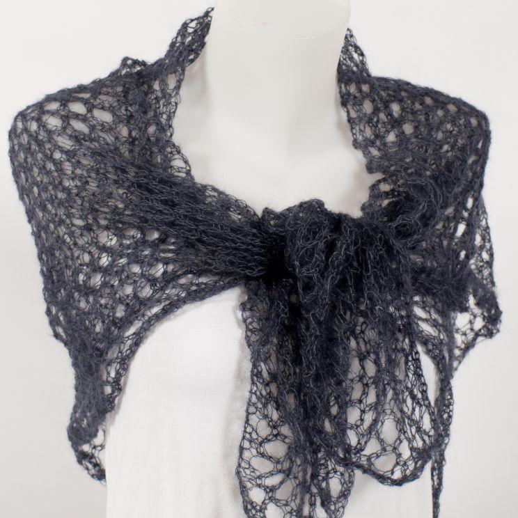 Carré tricoté - Mohair et soie