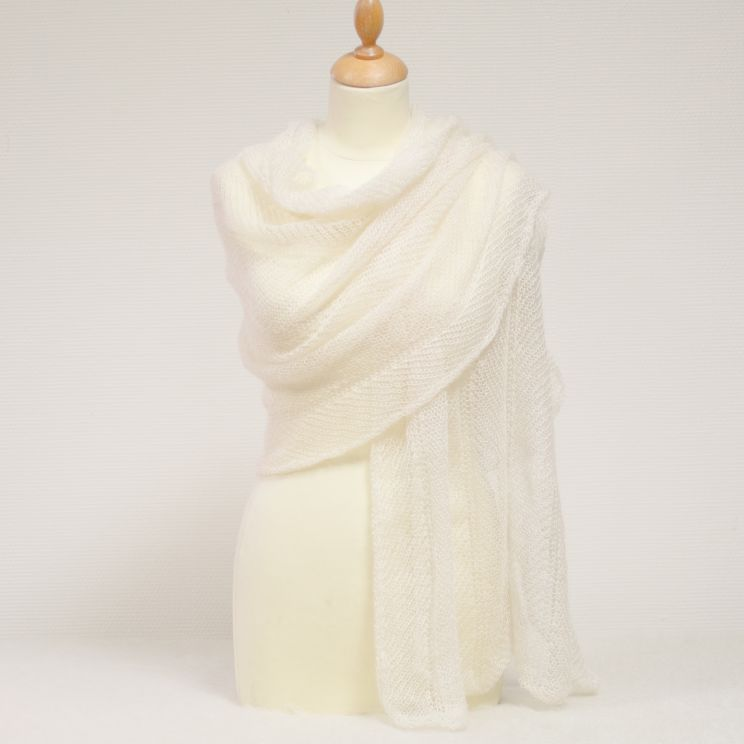 Etole tricotée en mohair et soie