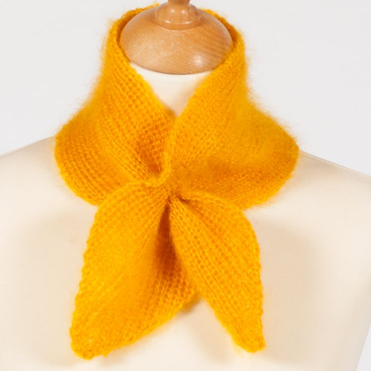 Tour de cou tricoté en laine mohair et soie