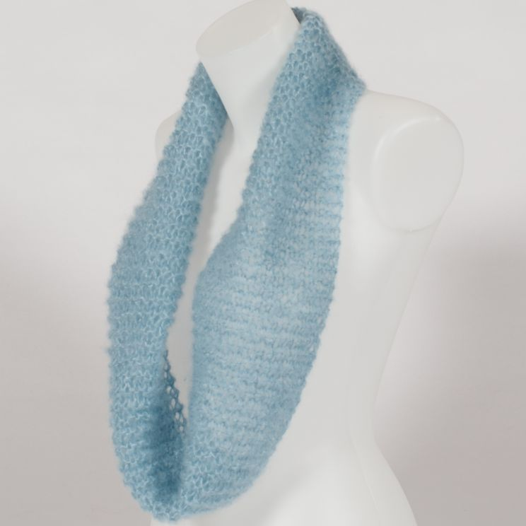 snood écharpe tricotée point mousse