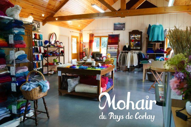 Vente de produits Mohair d'exception dans la boutique de la ferme