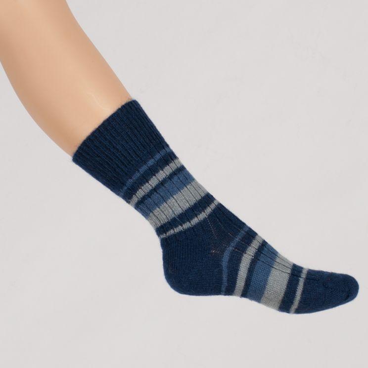 Chaussettes chaudes laine mohair rayées Triskel