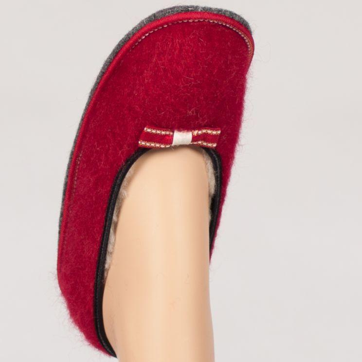 Ballerine pantoufle en mohair et laine doublée pure laine