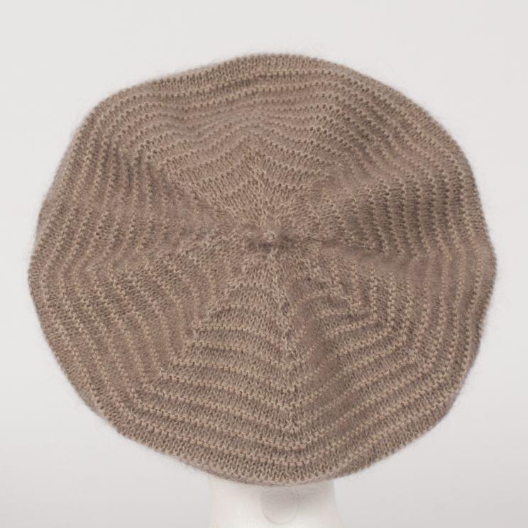 Béret tricoté mohair et soie