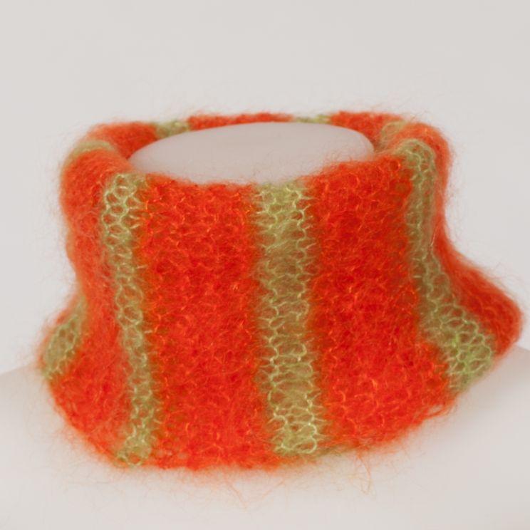Snood laine mohair et soie tricoté main en France