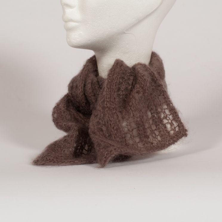 """Echarpe """"à vagues"""" tricotée en mohair et soie"""