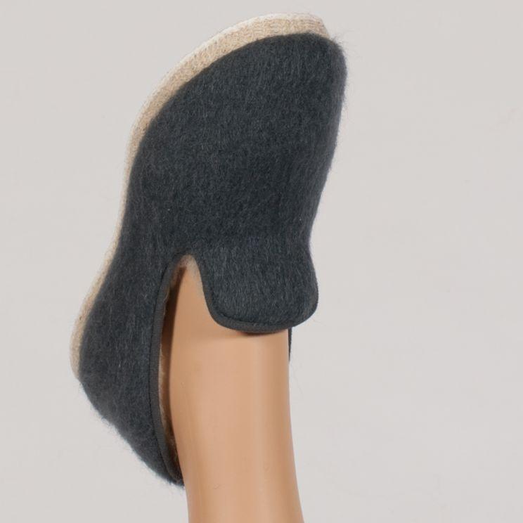 Ballerine pantoufle authentique en mohair et laine doublée pure laine