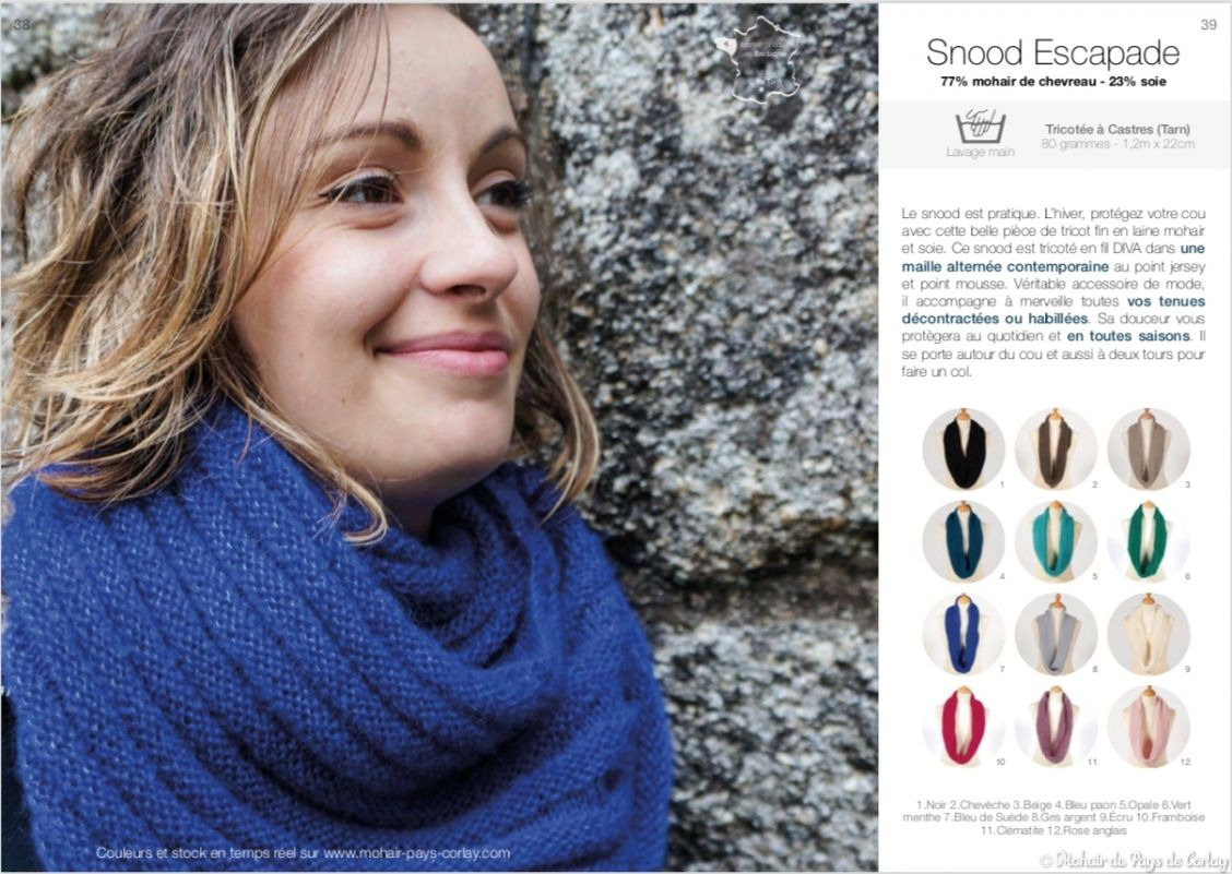Notre catalogue produits Mohair du Pays de Corlay 2019 - 2020