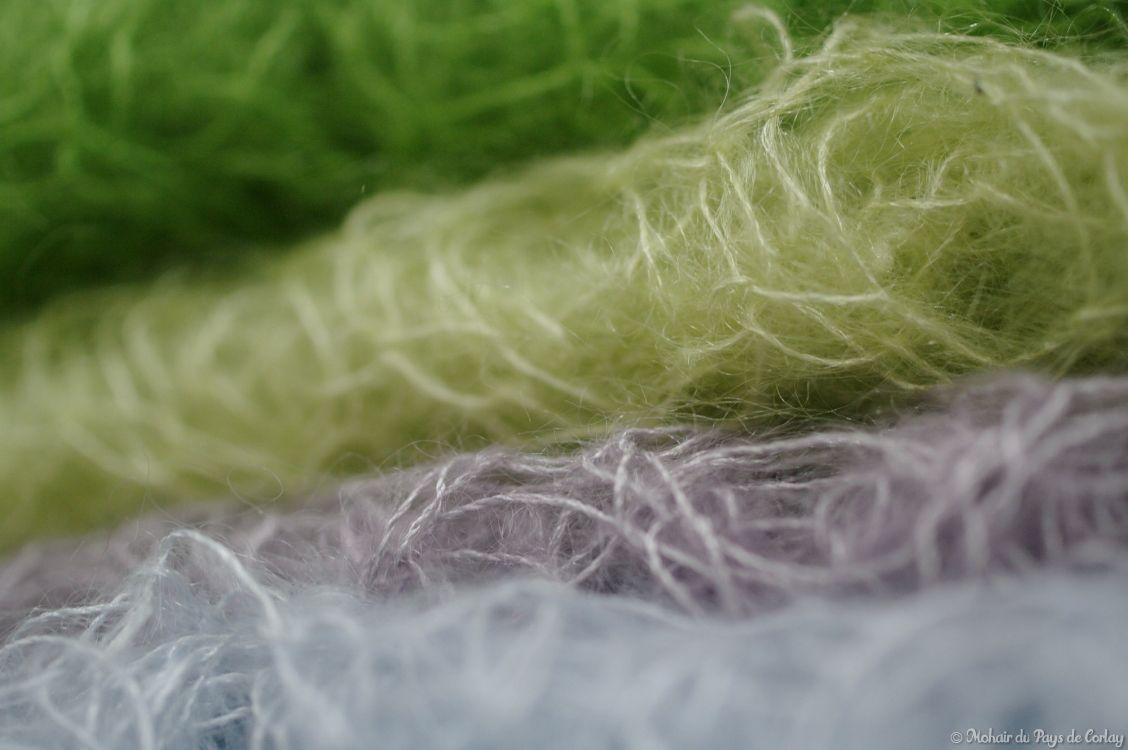 Les carrés tricotés, créations en fil mohair FRIVOLE