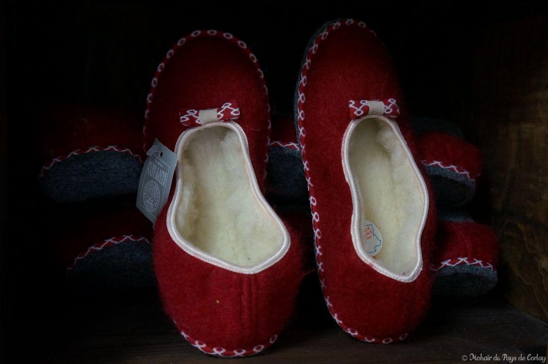 Les chaussons mohair et laine