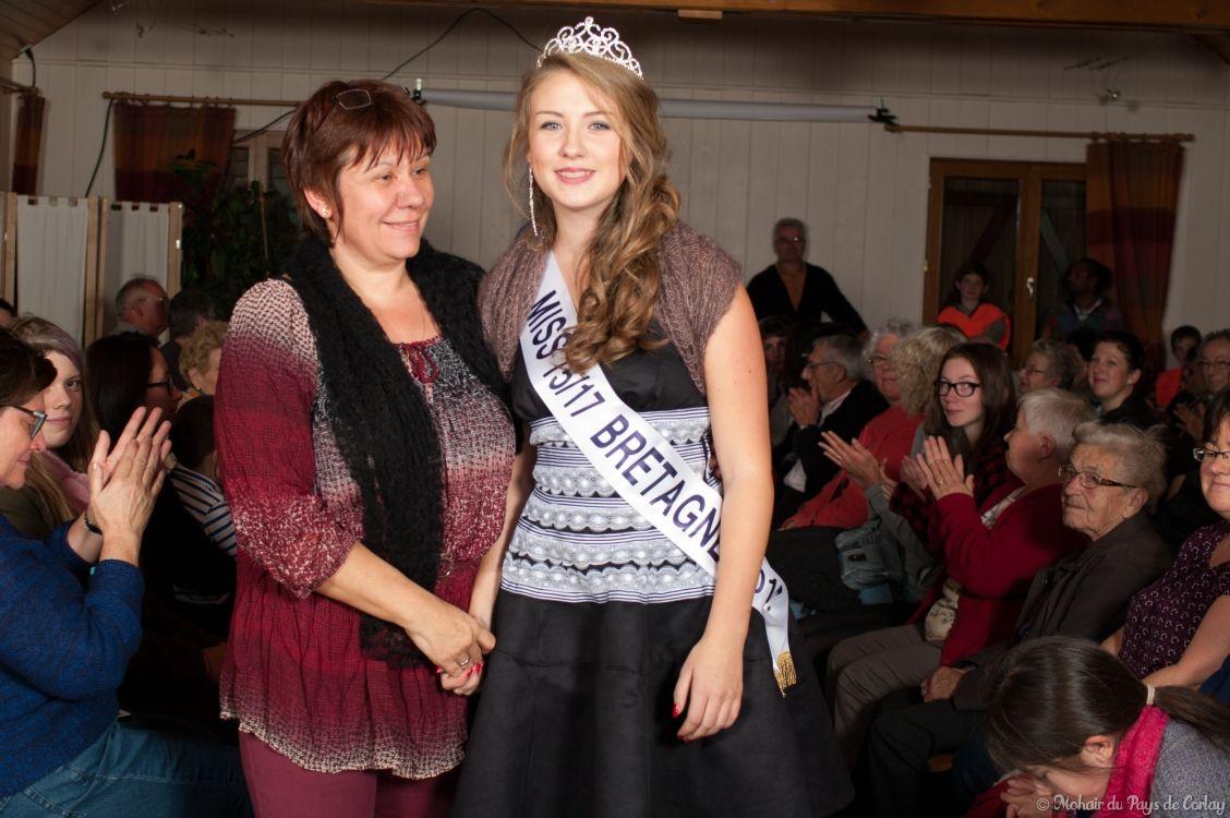 Julie et Nathalie sa maman, salariée au Mohair du Pays de Corlay