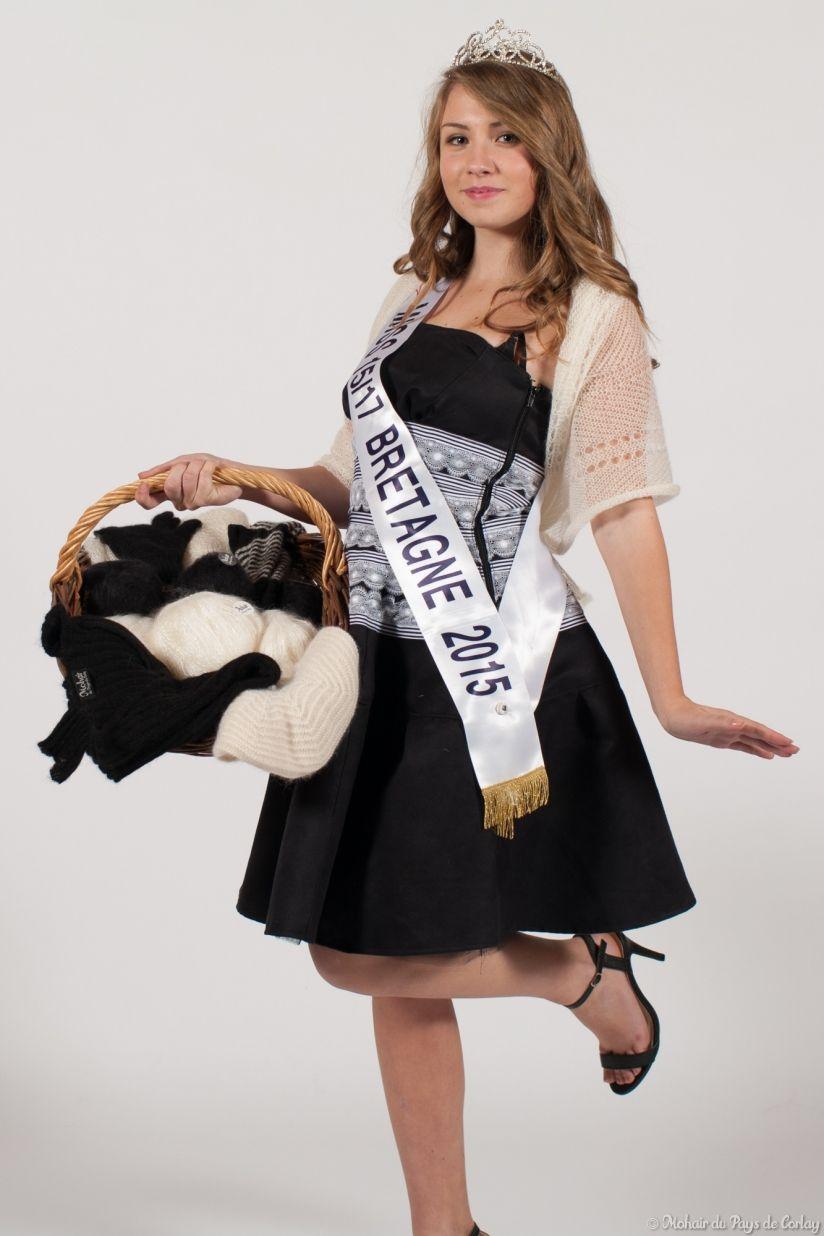 Miss 15/17 Bretagne, ambassadrice du Mohair du pays de Corlay