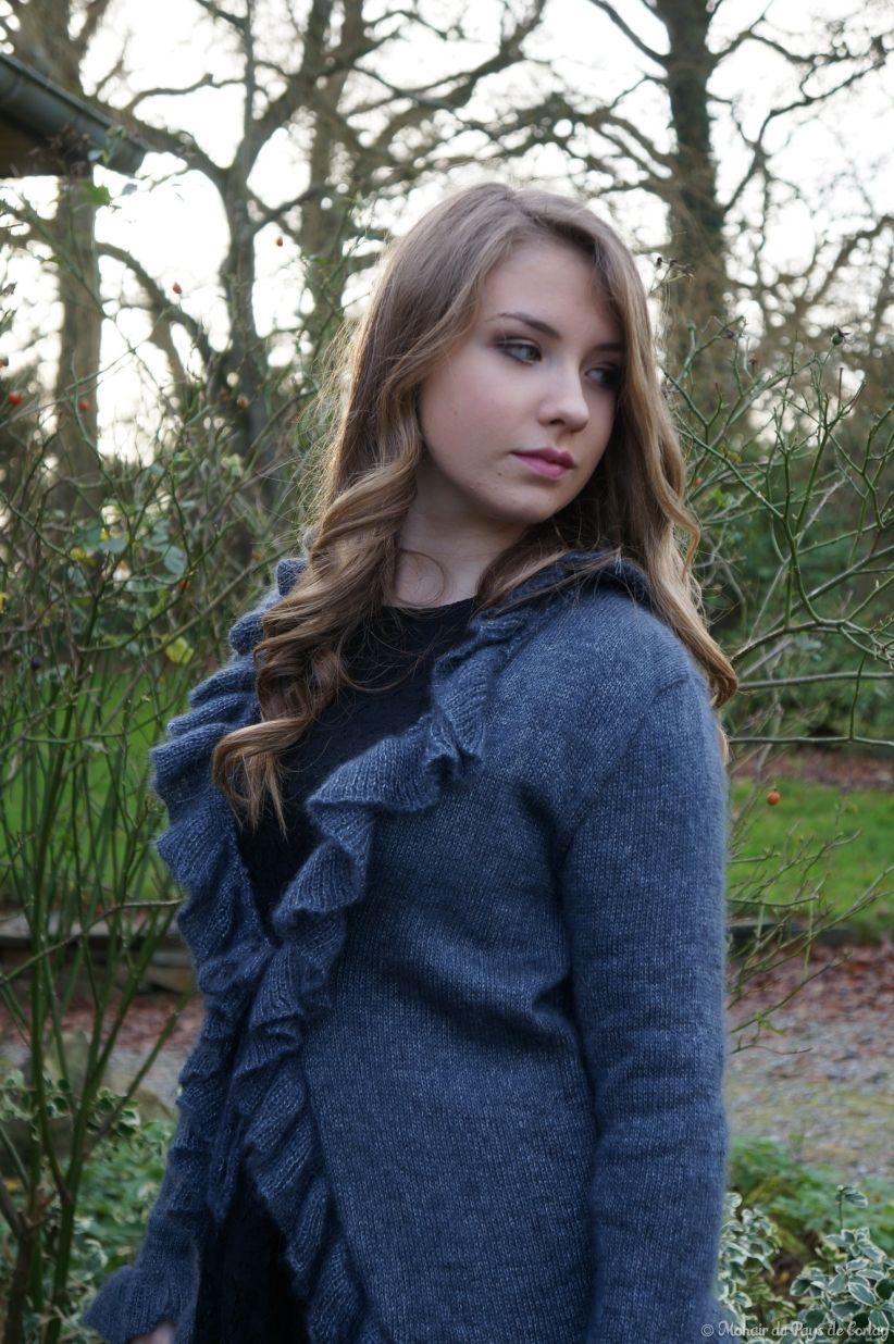 Miss 15/17 Bretagne 2015, gilet à volants, mohair et soie