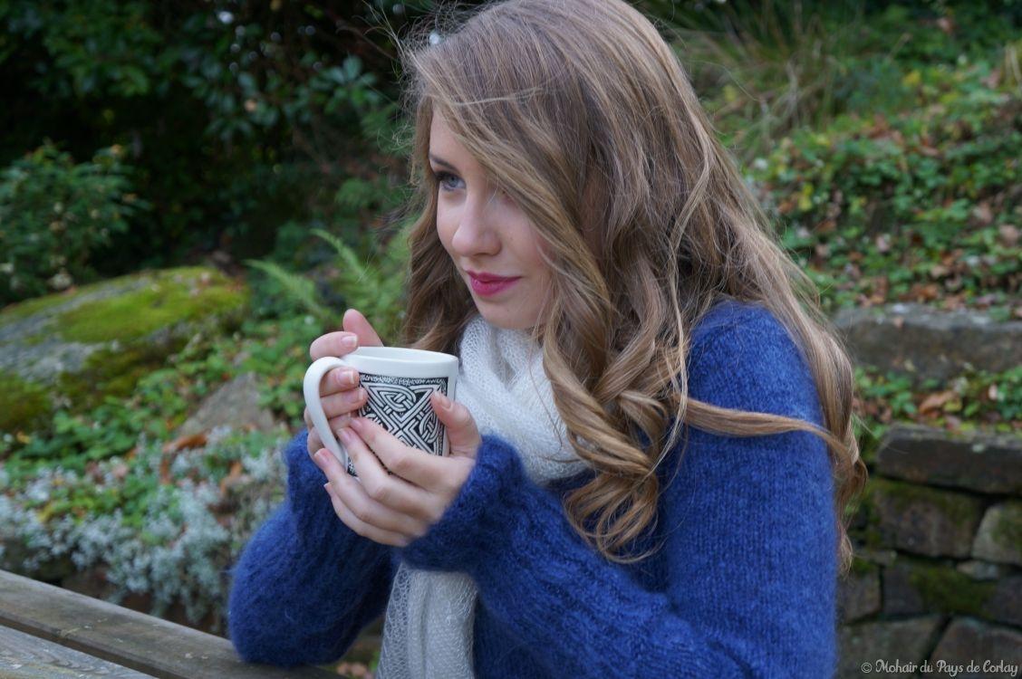 Miss 15/17 Bretagne 2015, pull tricoté main, mohair et soie