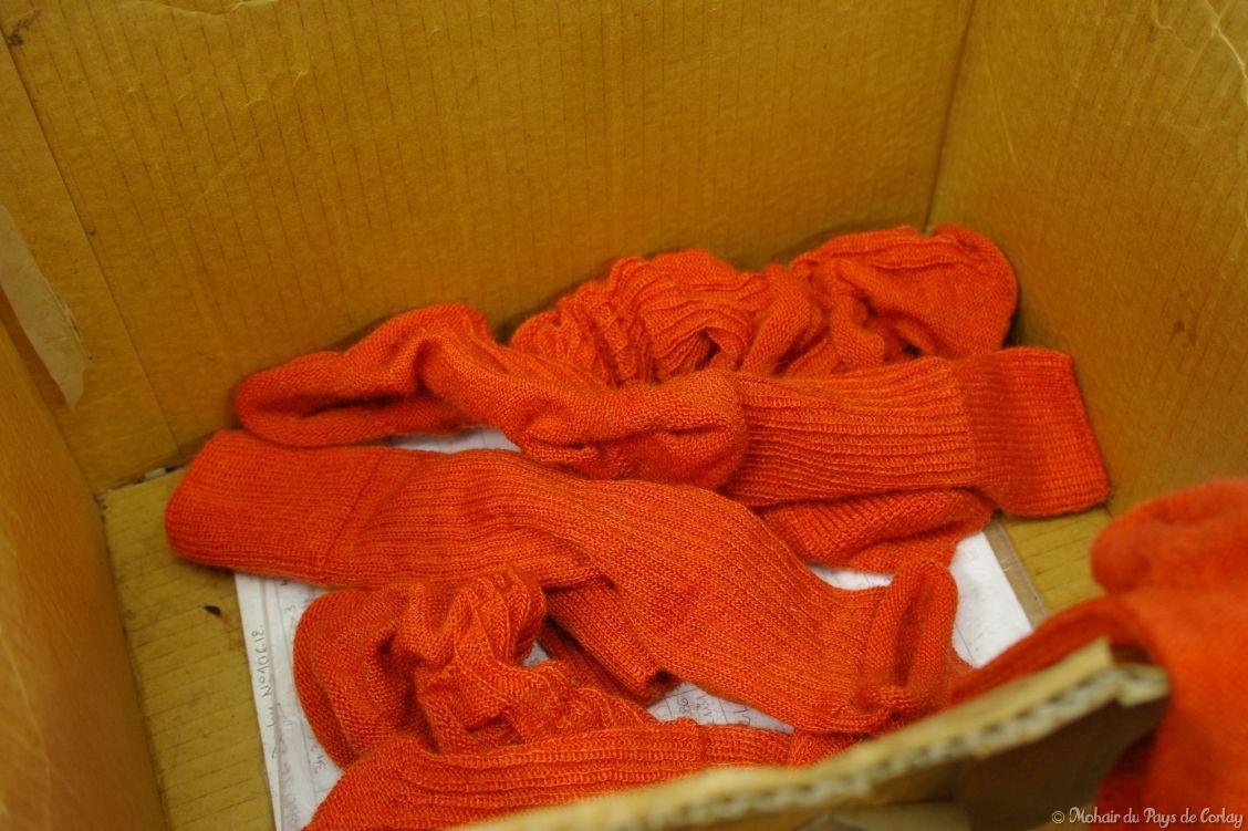 Les chaussettes Triskel avant remaillage