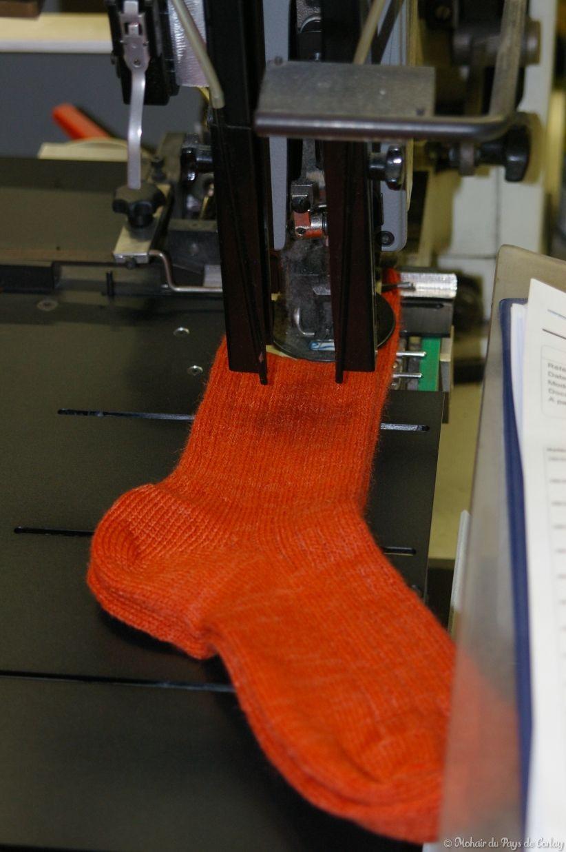 Les chaussettes Triskel à l'étiquetage
