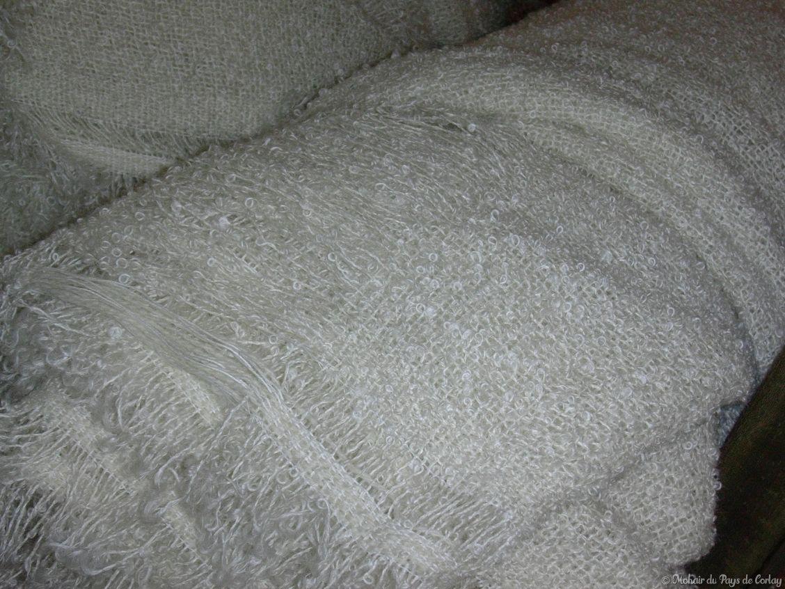 plaids et couvertures prêts pour la teinture