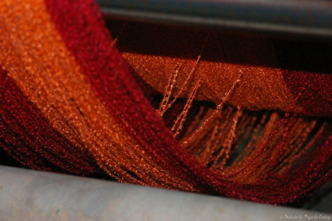 Fil bouclette coloré pour tisser les plaids et couvertures