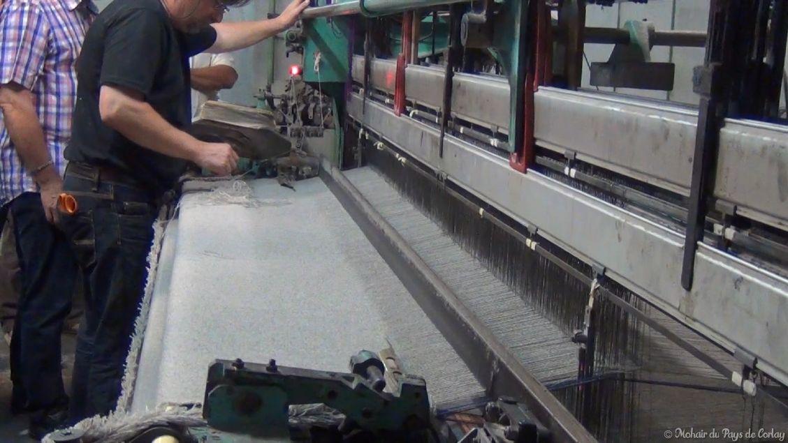 plaids et couvertures, le métier à tisser