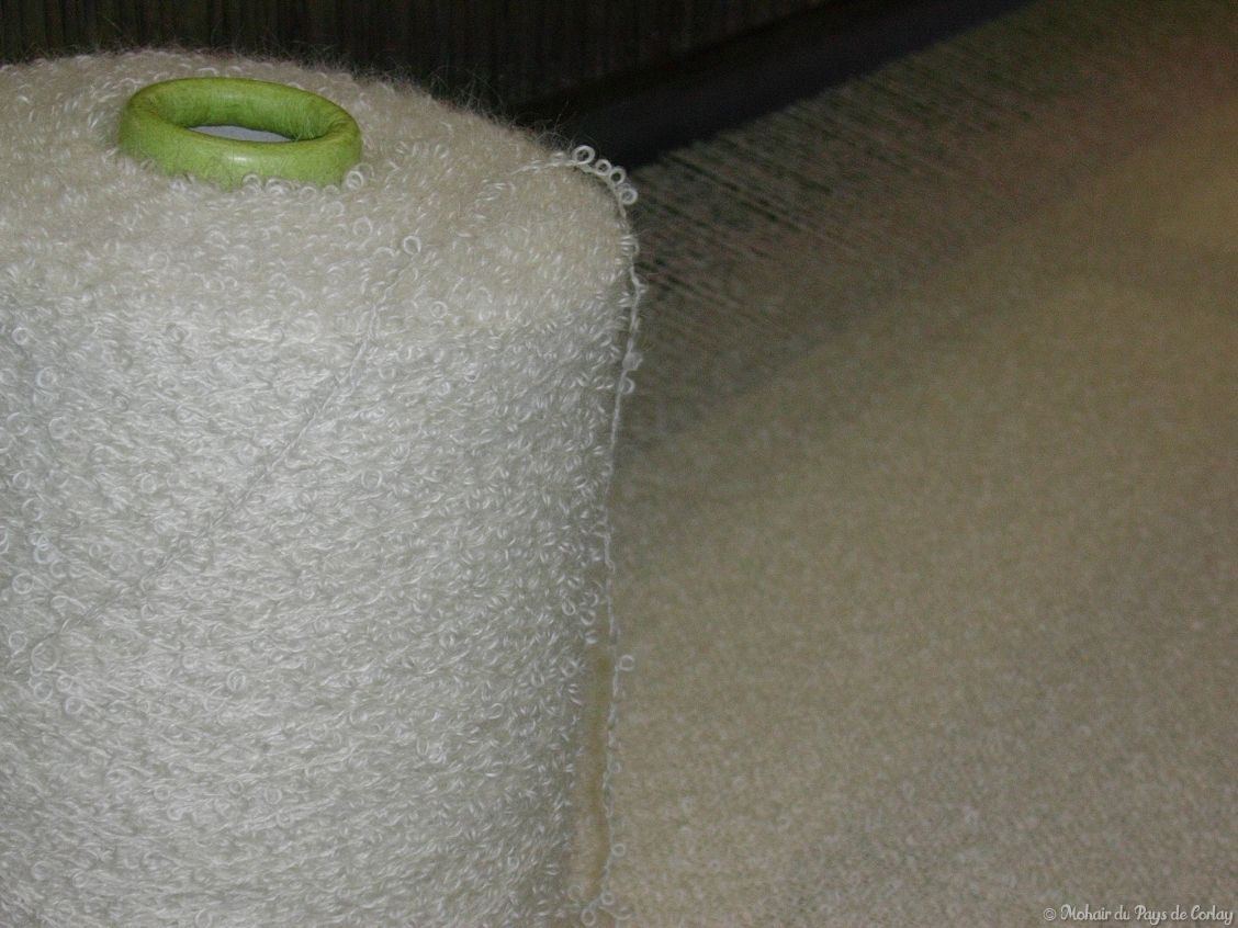 plaids et couvertures, le fil bouclette 100% mohair